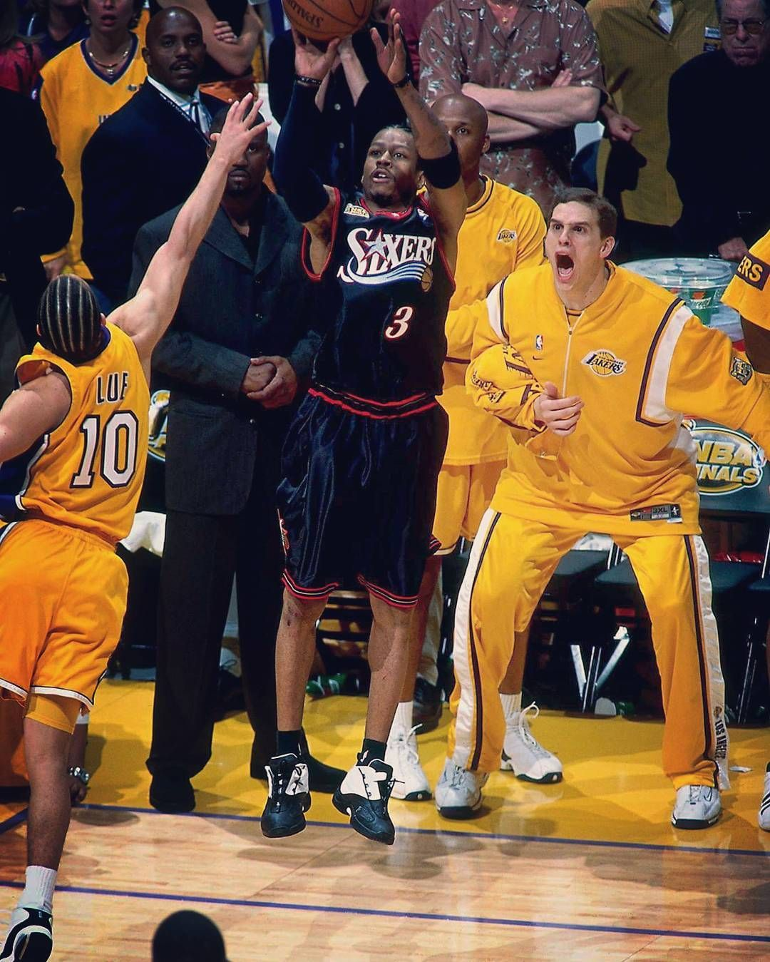Allen Iverson Shots Over Tyronn Lue 2001 Nba Finals Game 1 Medium