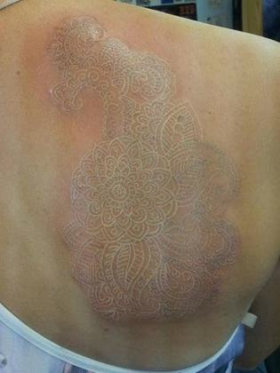 75 Striking White Ink Tattoos That Are Sure To Stand Out Medium