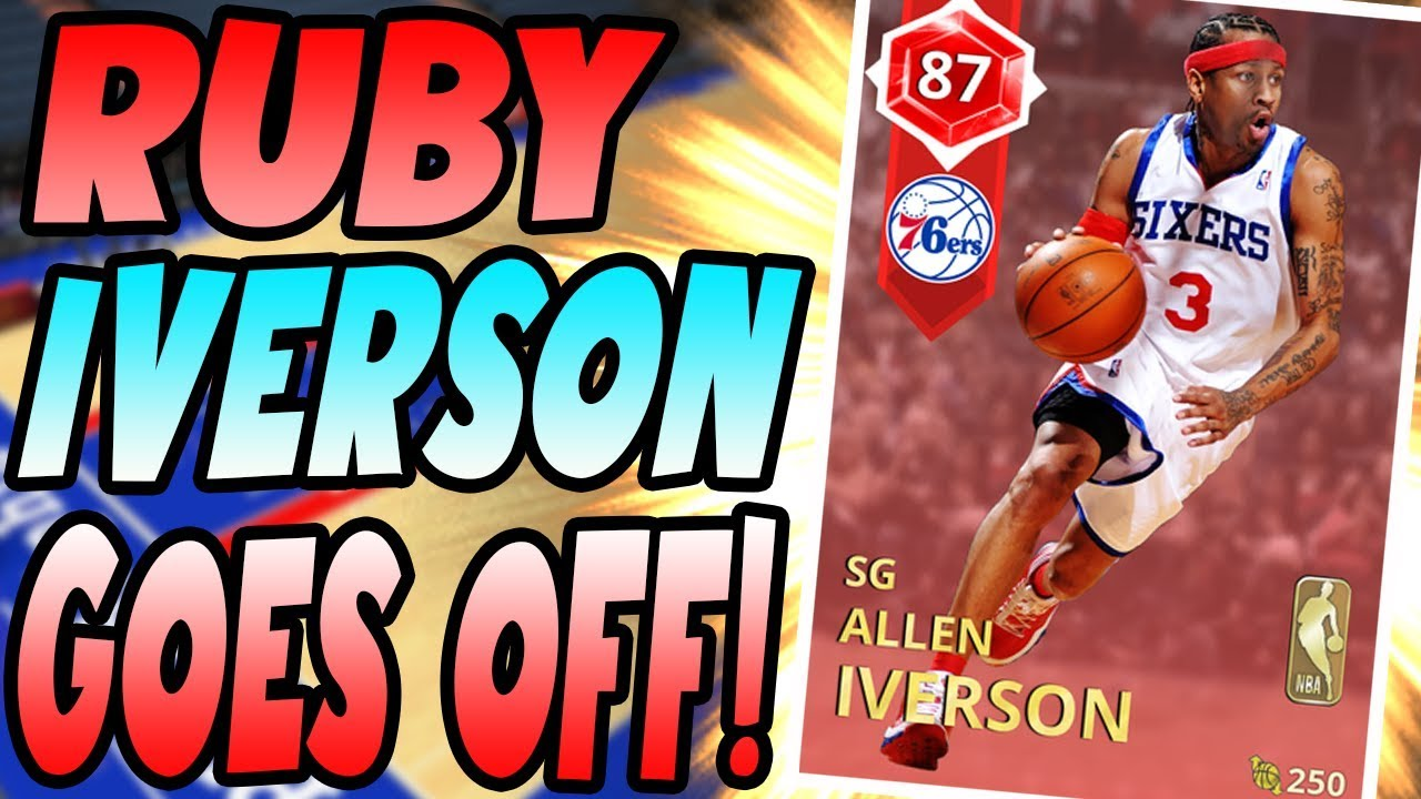 Nba 2k18 Myteam Ruby Allen Iverson Gameplay Don T Let The Stats Medium